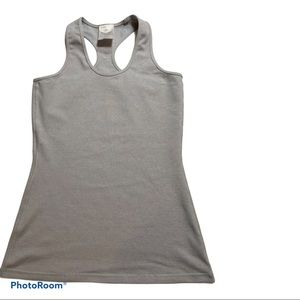 Kids Ivivva Silvery Grey Fitted Tank Size 12